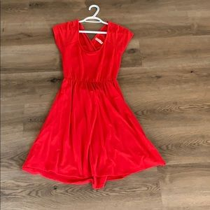 Red Dress Crisscross Back Size Medium